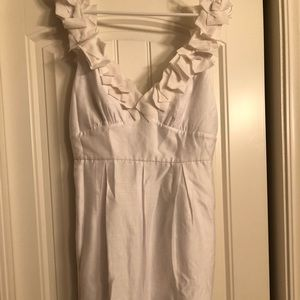 Bcbg white dress size 6 NWT